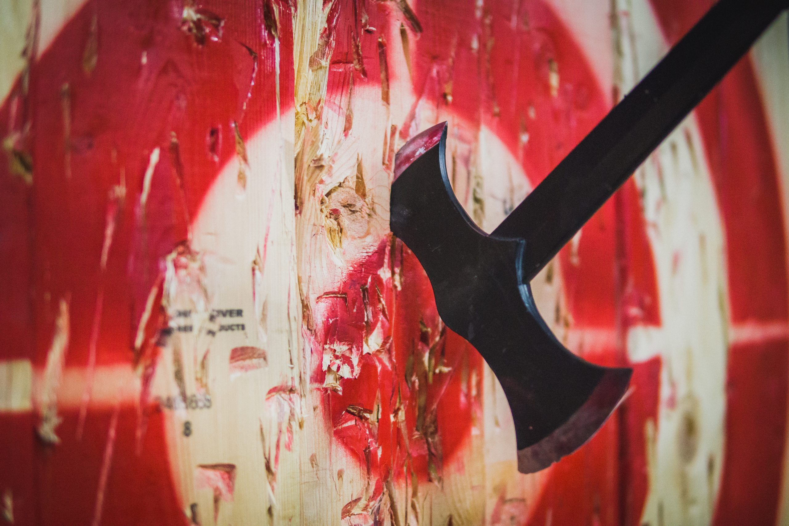 Axe in Wood Target